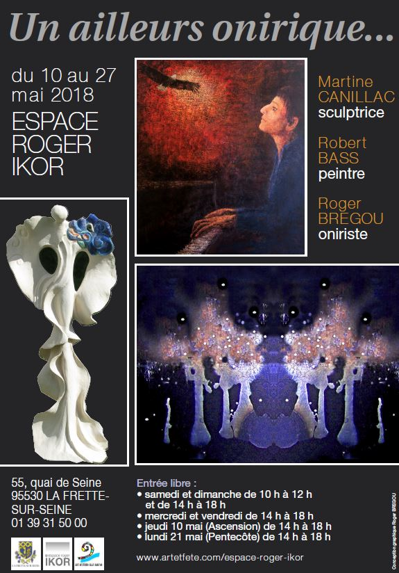 Exposition de Martine Canillac, Robert Bass et Roger Brégou