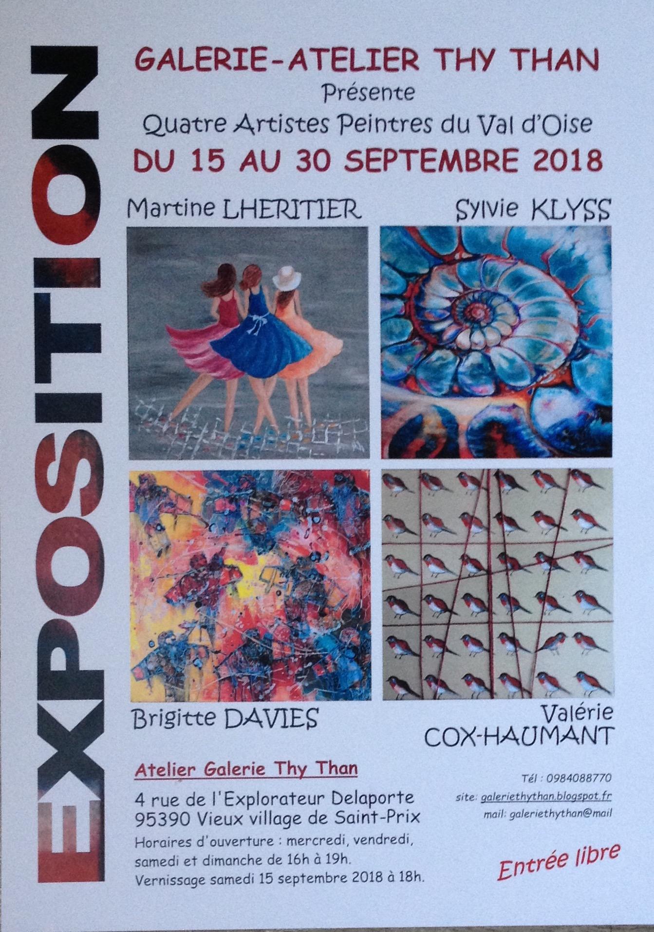 Expo à Saint-Prix du 15 au 30 septembre 2018