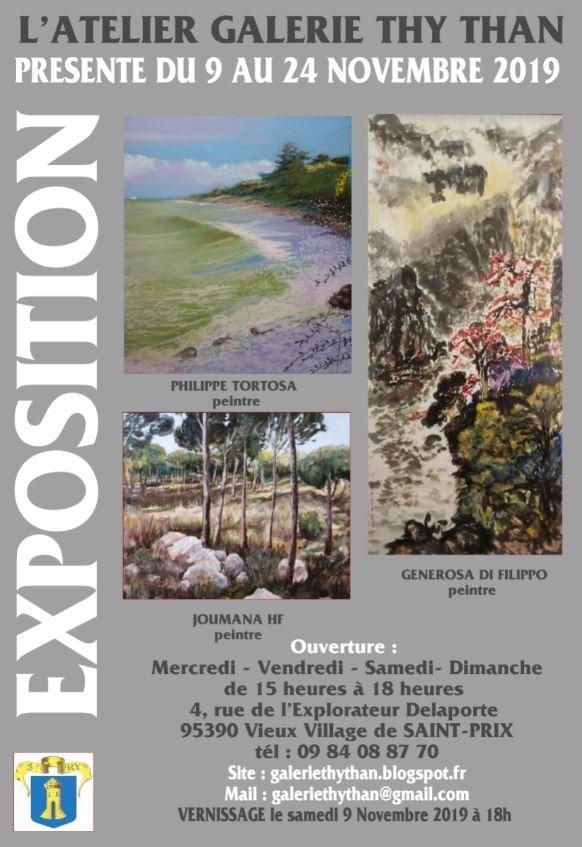 Exposition Galerie Thy Than du 9 au 24 novembre 2019