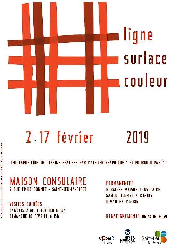 Exposition : Ligne surface couleur
