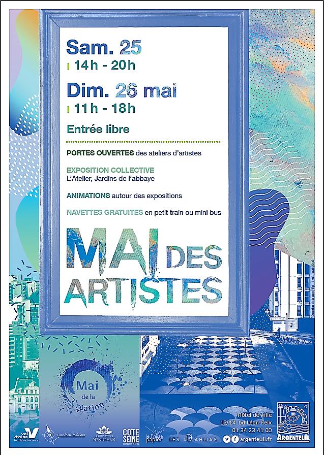 Mai des Artistes à Argenteuil 25 et 26 mai 2019