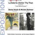 Exposition de Denis Voisin (peintures) et Michel Rohmer (Encres) :