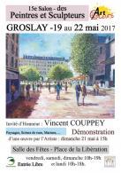 15e Salon des Peintres et Sculpteurs de Groslay avec Vincent Couppey comme invité d'honneur.