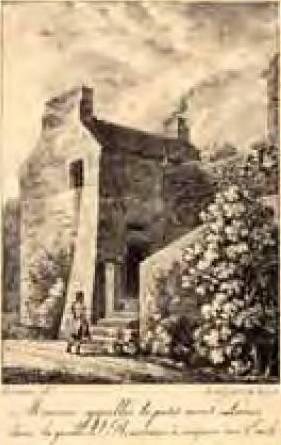 Maison appelée le Petit Mont-Louis, d'après F. Lameau, 19e siècle. Lithographie