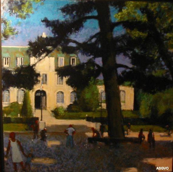 La place de la Mairie de Saint-Gratien par PIERRE NEVEU