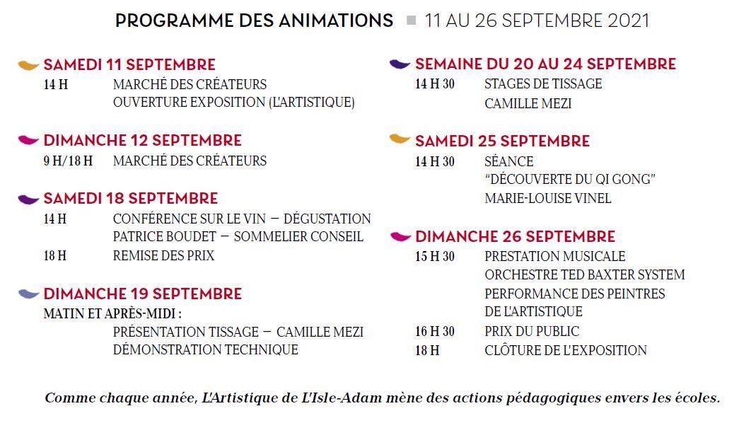 Programme du Salon artistique de L'Isle-Adam