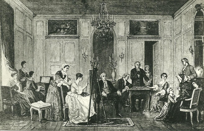 Salon de la Chevrette d'après un texte de Denis Diderot
