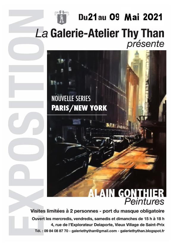 Exposition Alain Gonthier à la Galerie Thy Than de Saint-Prix
