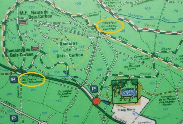 Plan Domaine de Bois Corbon - Forêt de Montmorency
