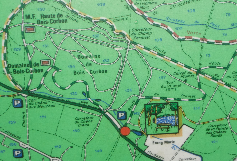 Domaine de Bois-Corbon - carte