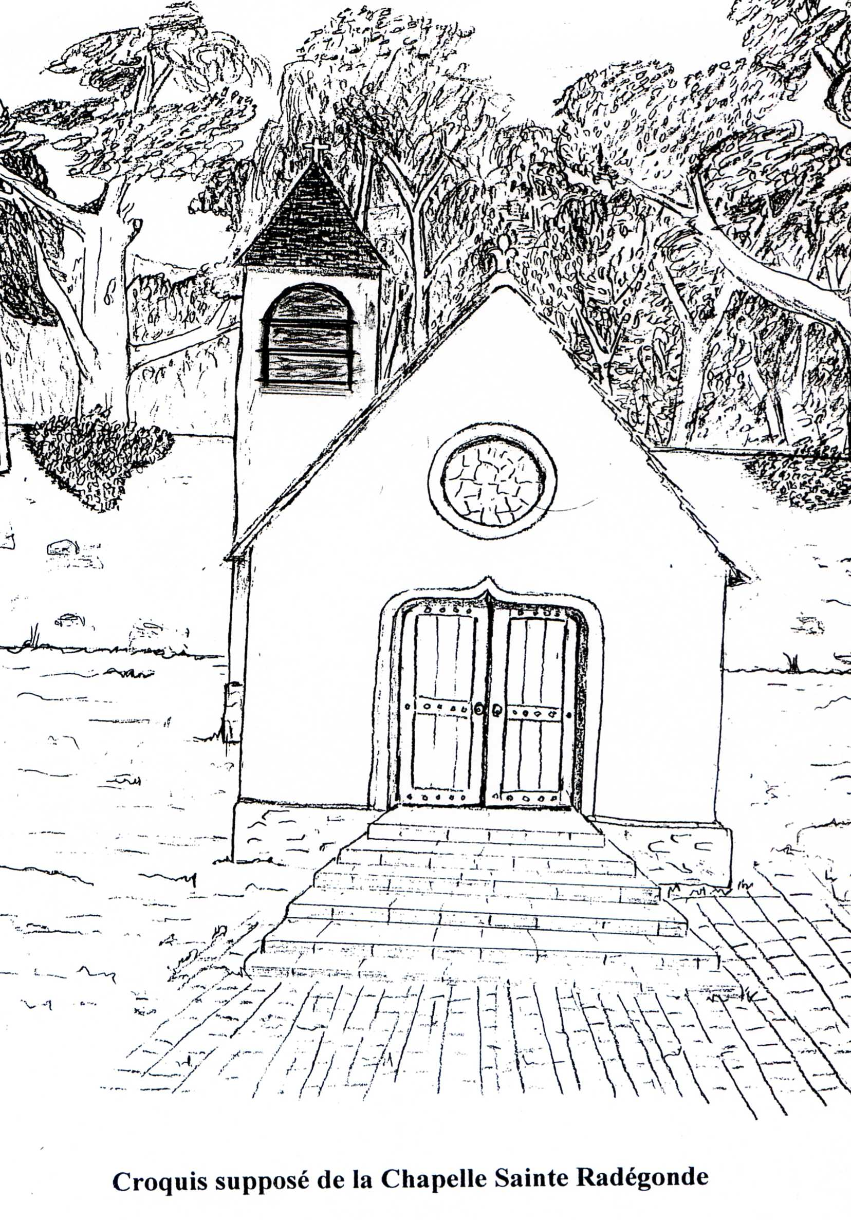 Croquis de la chapelle Sainte Radegonde