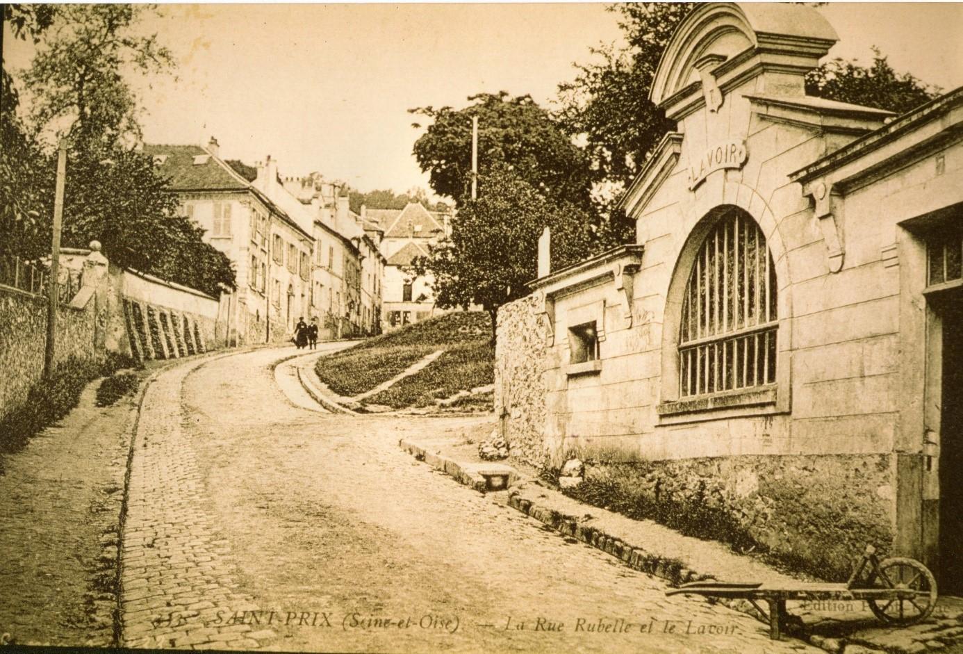 Le nouveau lavoir de la rue Rubelle (collection Gérard Bourse)