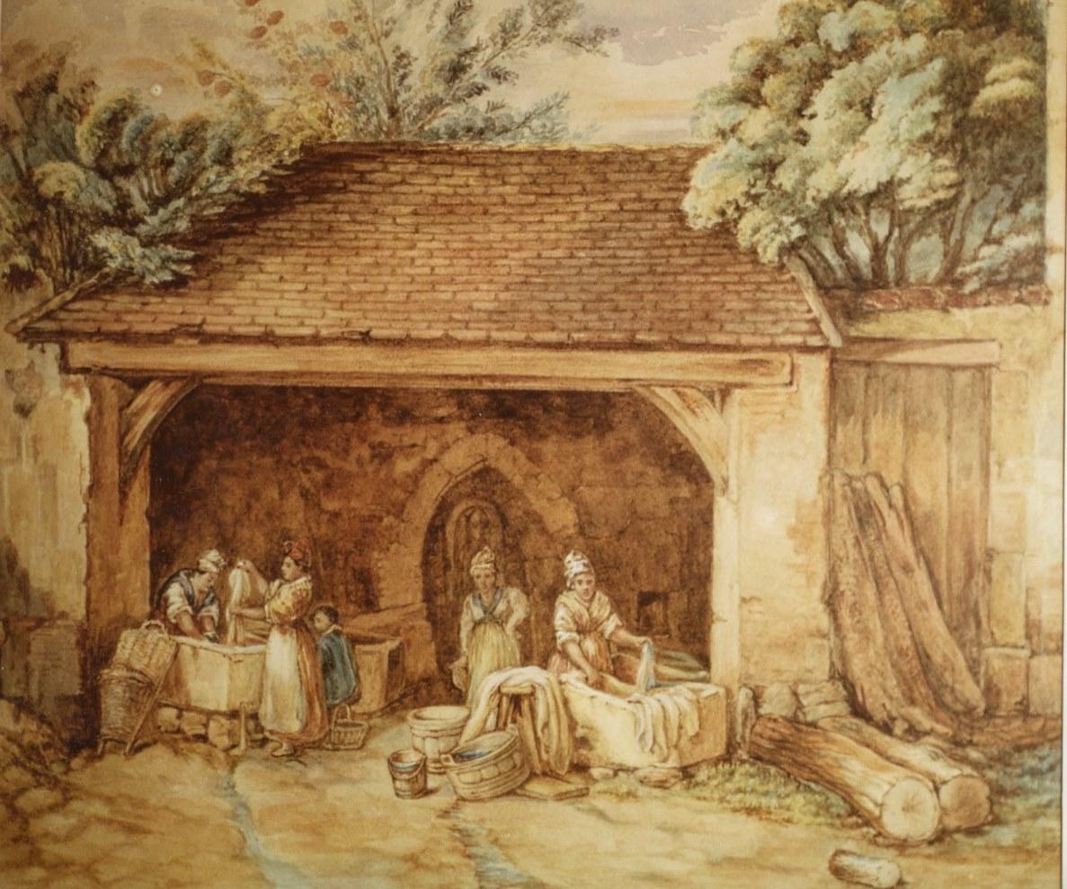 Les blanchisseuses de Saint-Prix (collection Gérard Bourse)