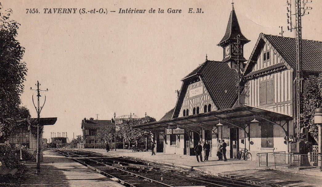 Gare de Taverny (photo issue site Geneanet)