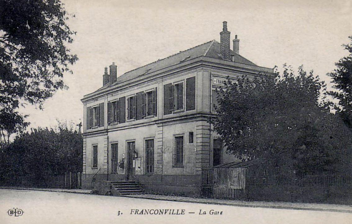 Gare de Franconville vers 1900
