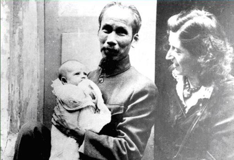 Hô Chi Minh, Lucie Aubrac et sa fille