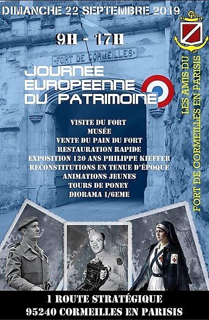 Journées du Patrimoine 2019 au Fort de Cormeilles en Parisis