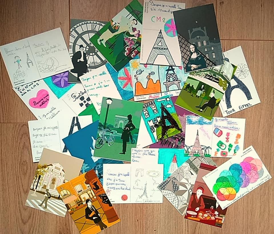 Les cartes postales écrites par les enfants de Franconville, Saint-Leu et Saint-Pri