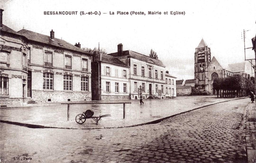Mairie et écoles de Bessancourt (extrait de Bessanourt les années 1900)