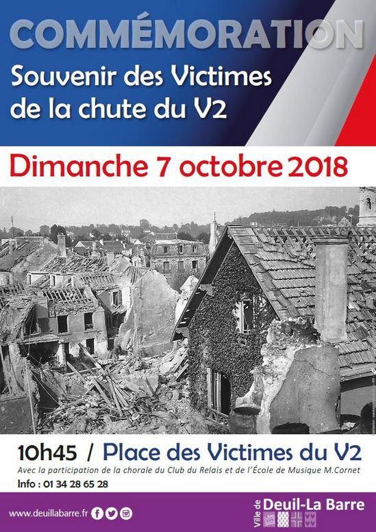 Commémoration Souvenir des Victimes de la chute du V2
