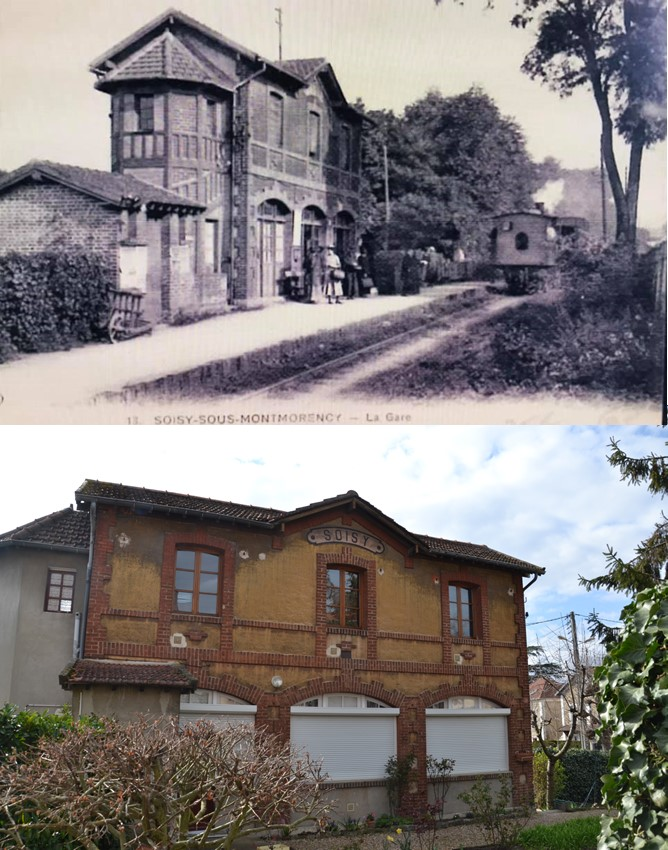 Gare de Soisy - Refoulons (carte postale Collection JP Bousquet)