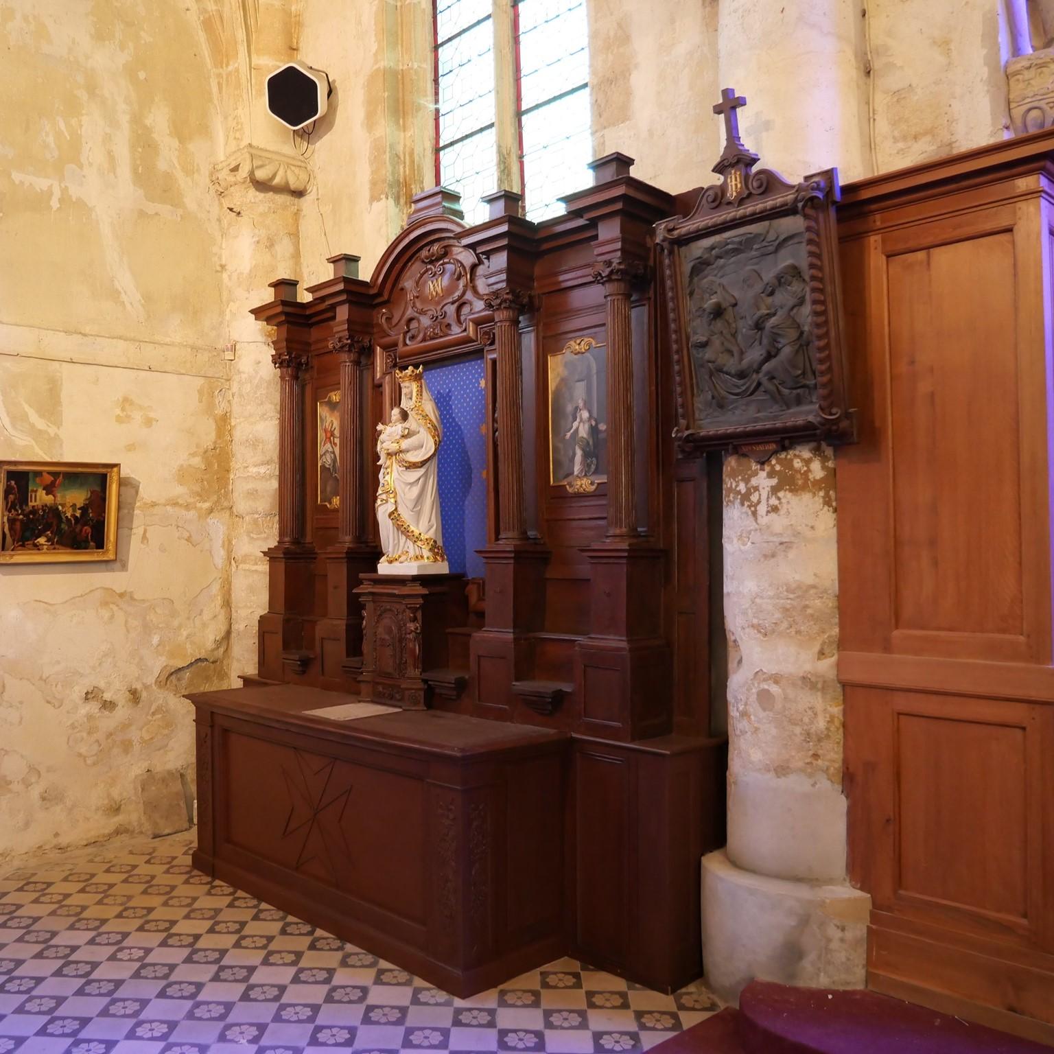Retable de l'église de Saint-Prix (photo : Christophe Séfrin)