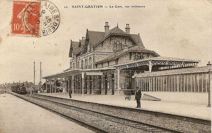 la gare de Saint-Gratien (issu site internet asgvo - collection Daniel Miot)