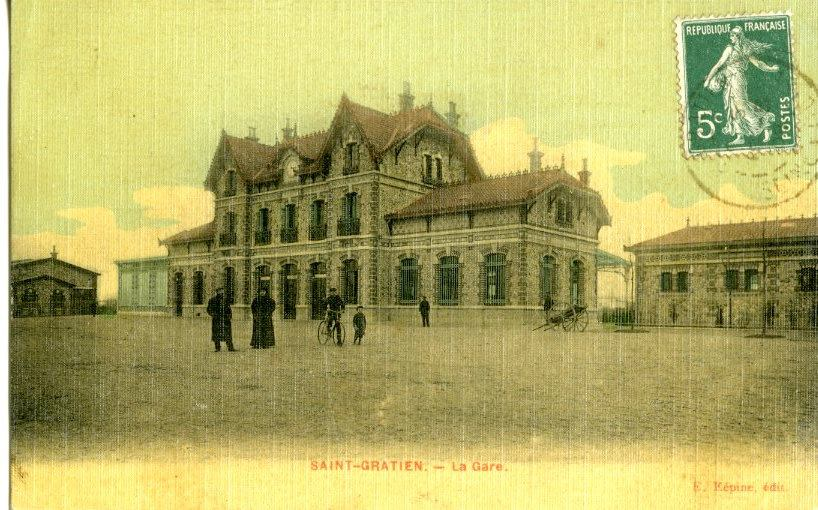La gare de Saint-Gratien (issu site internet asgvo)