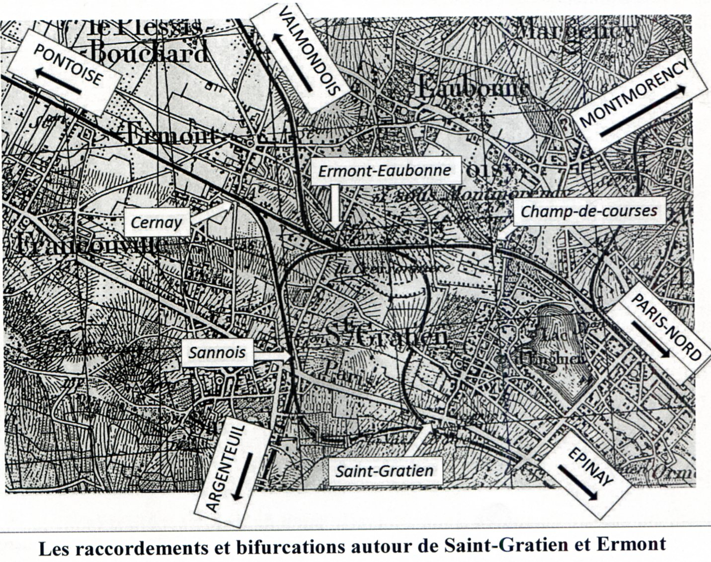 Carte extraite de Aimons Saint gratien en VO - n°17