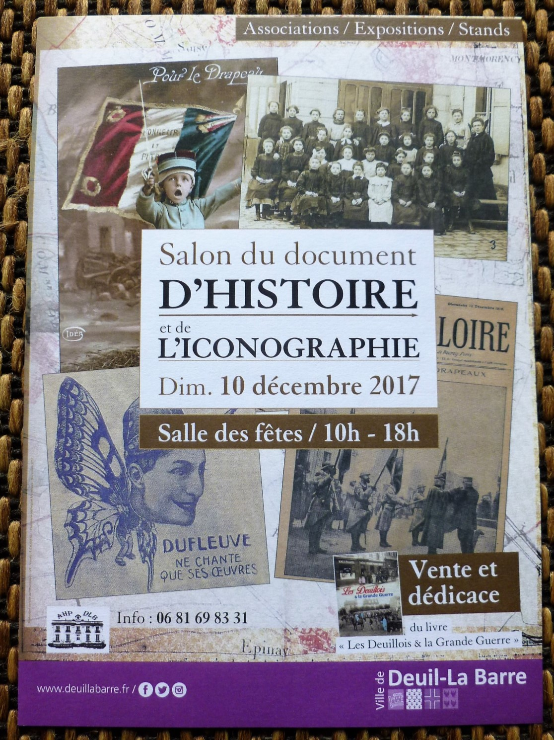 sALON DU DOCUMENT D'HISTOIRE ET DE L'ICONOGRAPHIE