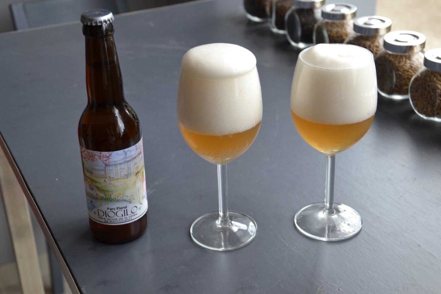 Verres et bière