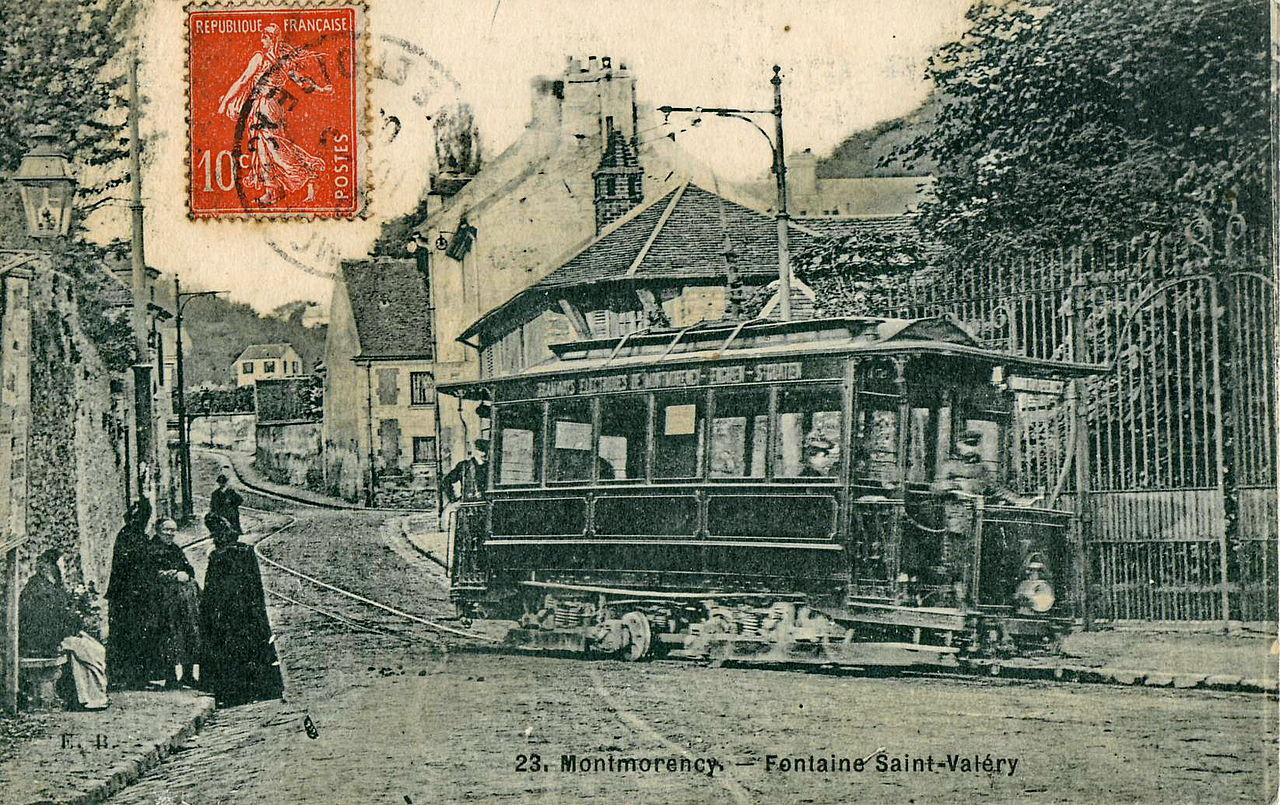 Le tramway à Montmorency