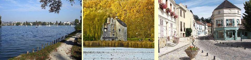 Trésors de la Vallée : lac d'Enghien, le Château de la Chasse, le vieux village de Saint-Prix