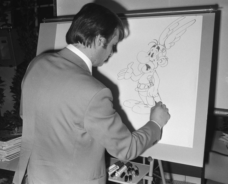 Uderzo dessine Astérix