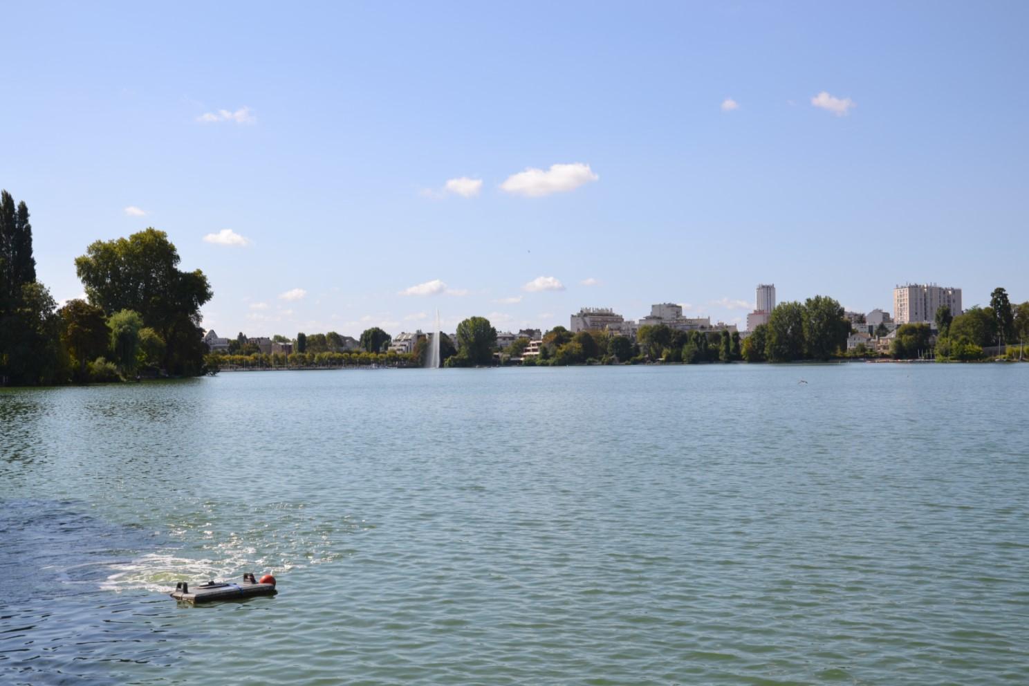Vue sur le lac d'Enghien