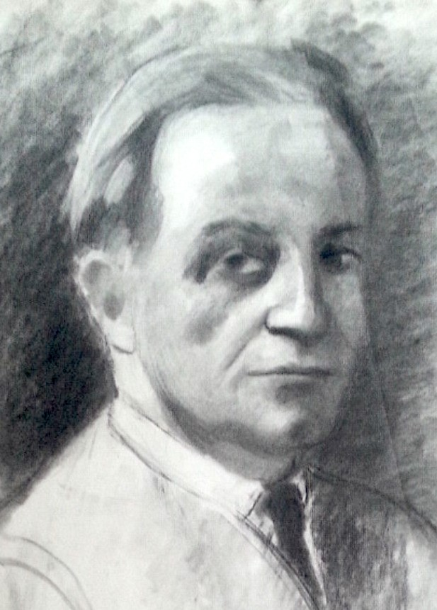 Autoportrait d'Albert Huyot