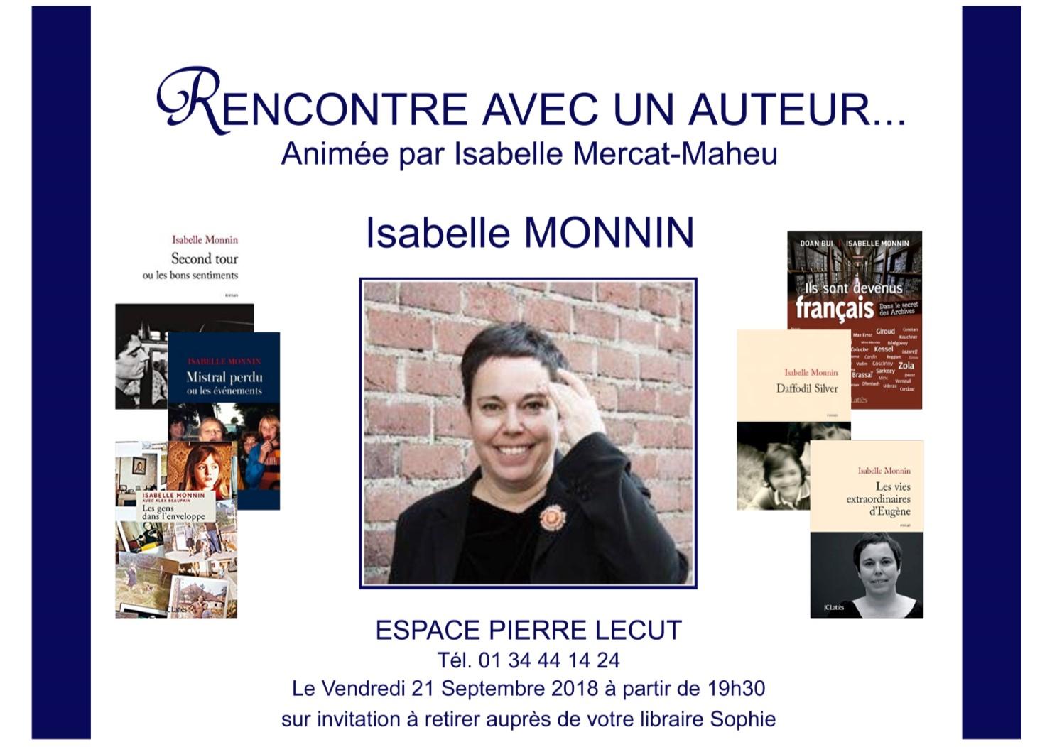 Rencontre avec Isabelle Monnin