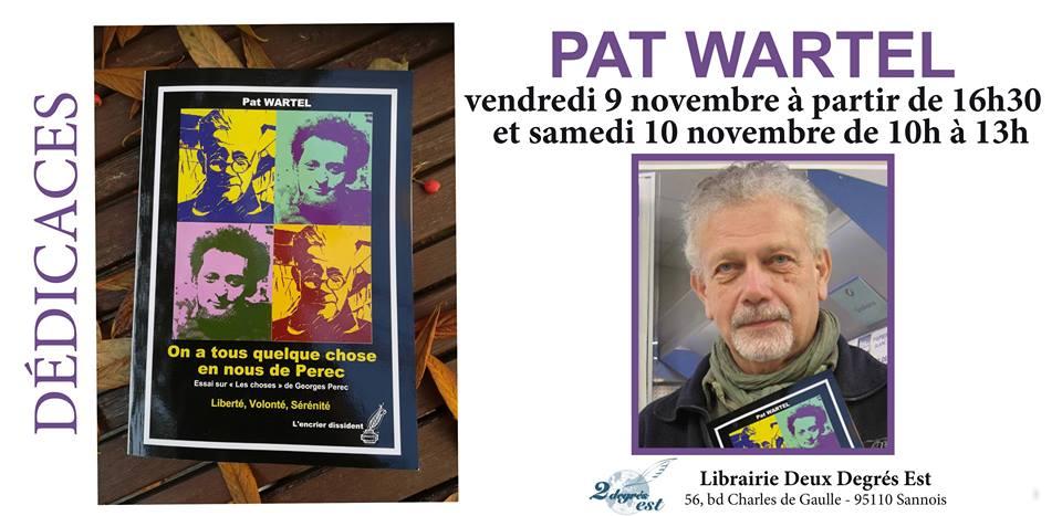 Séances dédicaces de Pat Wartel