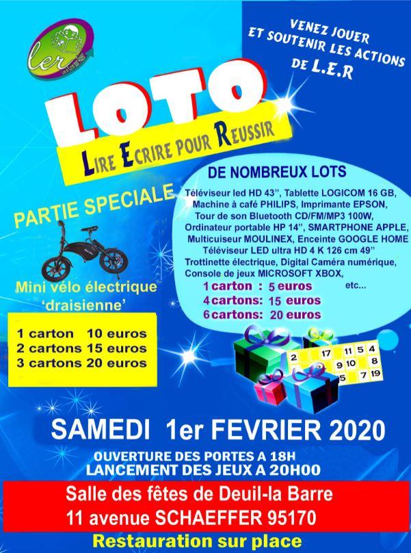 Loto à Deuil-la-Barre le 1er février 2020