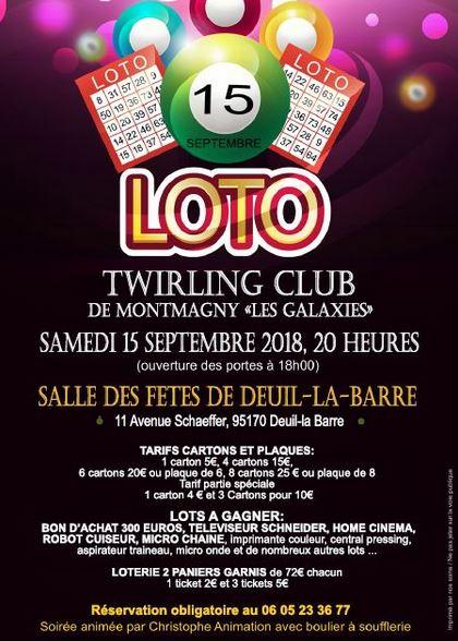 Loto à Deuil le 15 septembre 2018