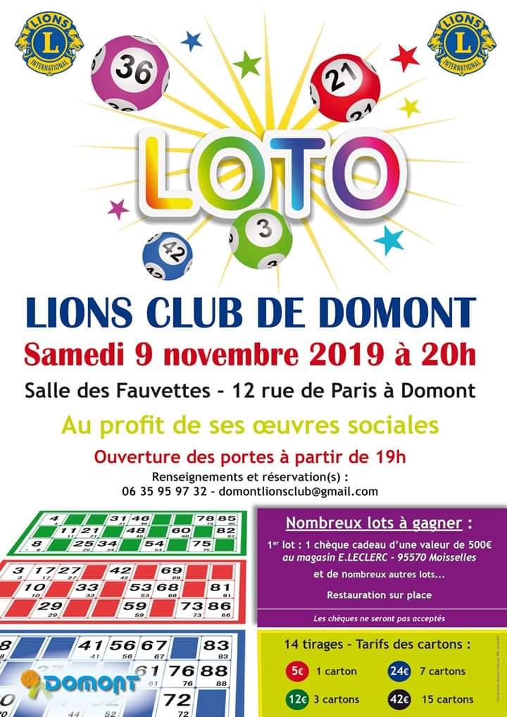 Loto à Domont le 9 novembre 2019