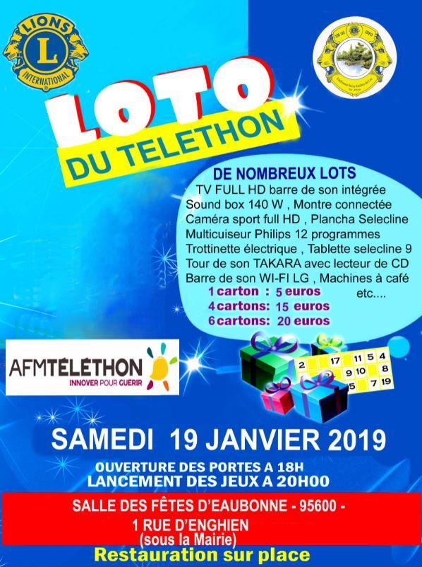Loto du téléthon - Eaubonne - 19 janvier 2019