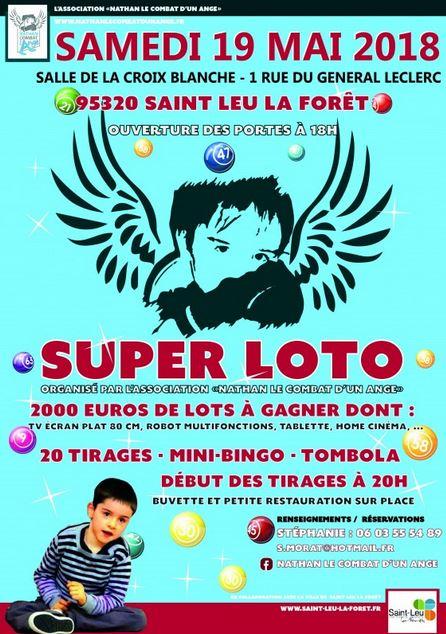 SUPER LOTO à Saint-Leu le 19 mai 2018