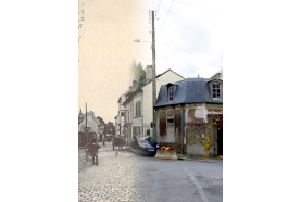 Zoom sur la rue de Paris de Montlignon.