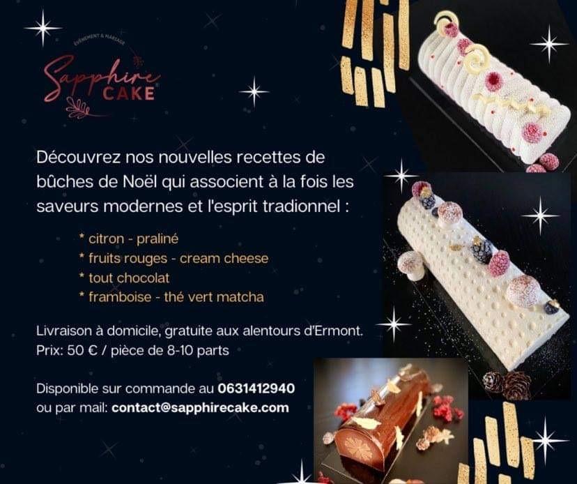 Les bûches de Noël de Sapphire Cake