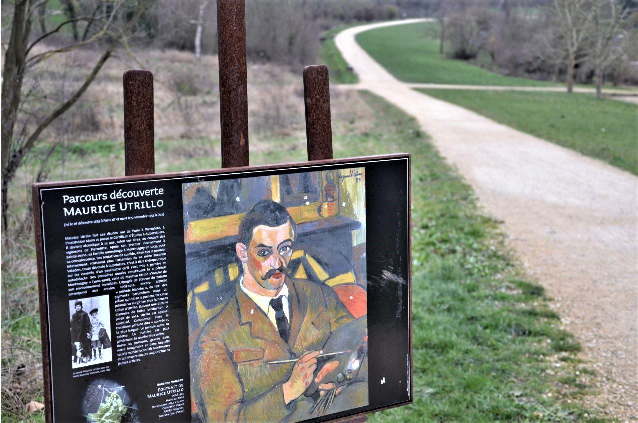 Butte Pinson  - parcours découverte Maurice Utrillo