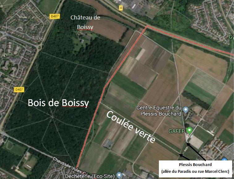 Vue aérienne - Google map