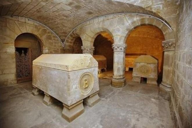 Crypte impériale de l'église de saint-Leu (photo syndicat initiative Saint-Leu)