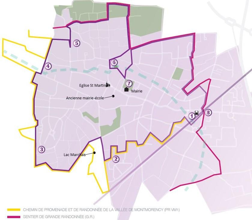 Plan balade de Groslay - A travers champs