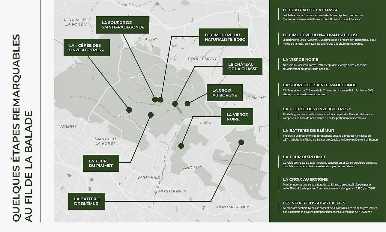 Plan parcours forêt augmentée